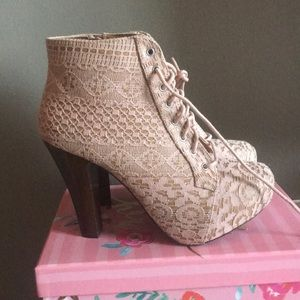 Shoes - Pink lake booties